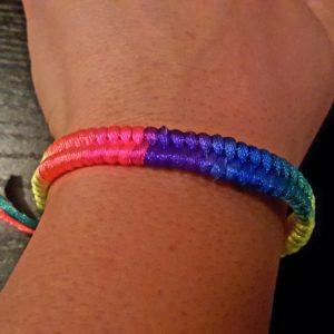 LGBT Gay Pride Woven Rainbow Bracelet