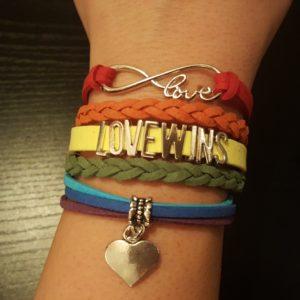 Infinity Love Wins Heart Charm Bracelet